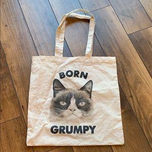 Handbags - 5/$15 Born grumpy, grumpy cat tote
